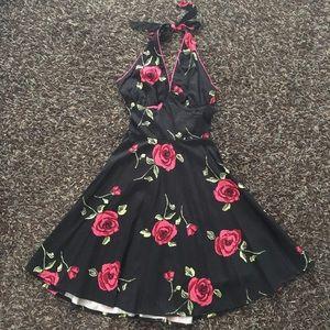ModCloth Voodoo Vixen rose rockabilly dress